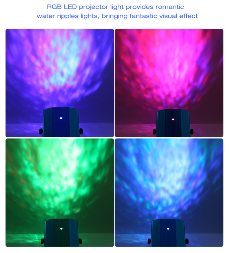 10W RGB LED Water Ripples Light Stage Lamp Projector