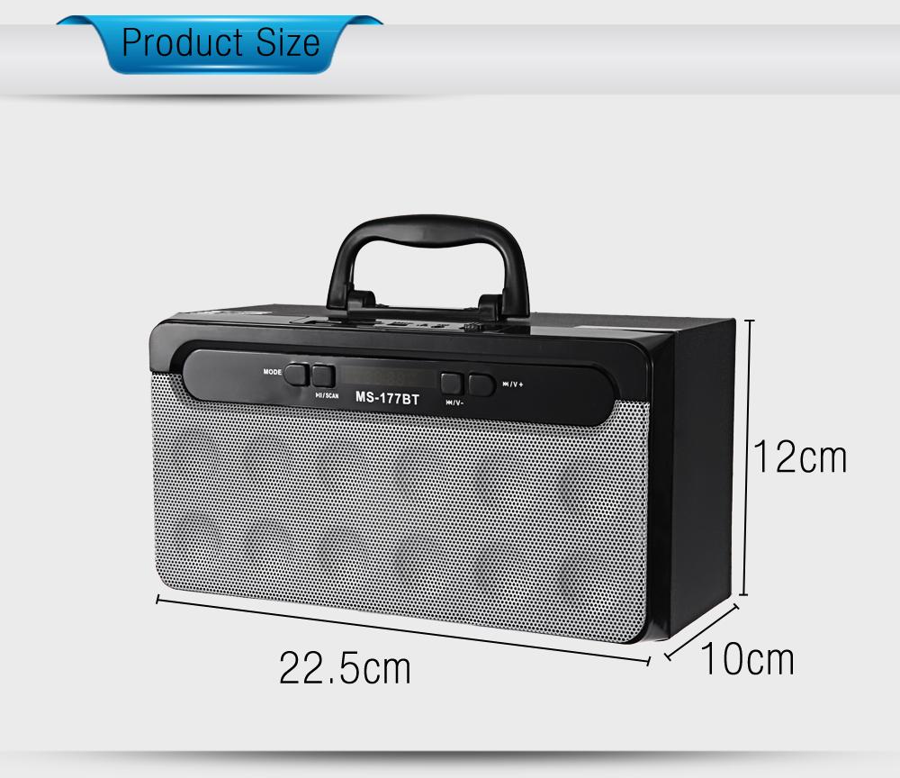 wholesale Portable High Power Output Multimedia FM Radio Wireless Bluetooth Speaker