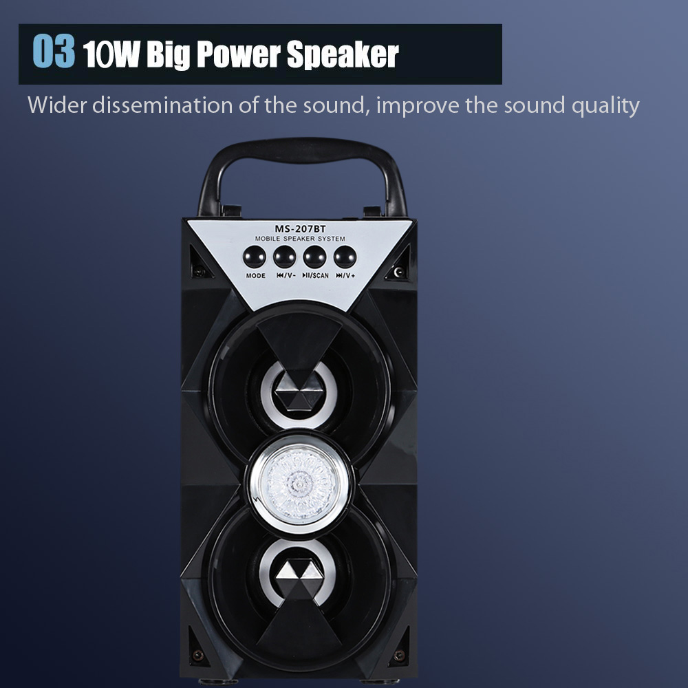 wholesale Portable High Power Output Multimedia FM Radio Wireless Bluetooth Speaker