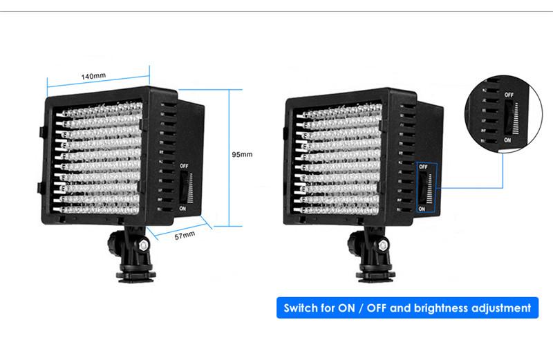 Lightdow Pro LD - 160 LED Video Lamp Light