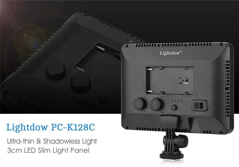 Lightdow PC - K128C 128 LED Video Light Dimmable Ultra High Power Panel for Digital SLR Cameras Camcorders