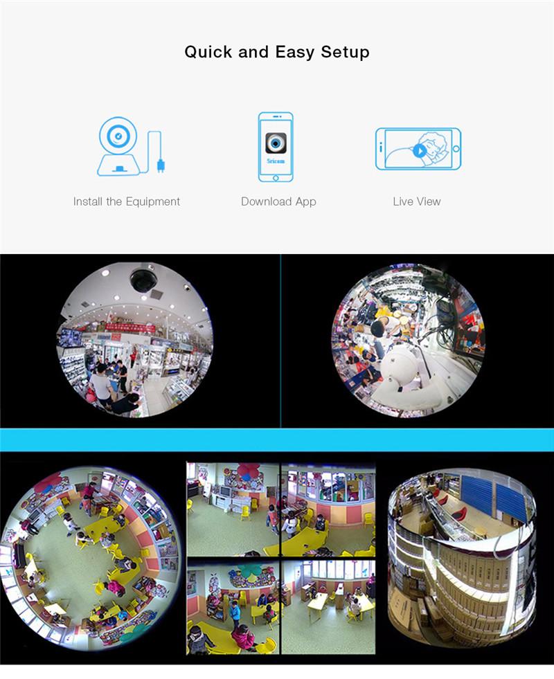 SP022 HD 960P Wireless WiFi IP Indoor Security Camera