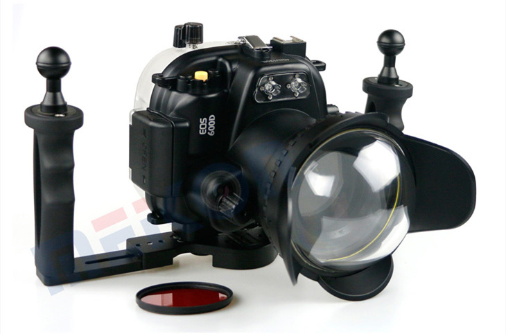 Canon  600D T3i waterproof case aluminum tray set double handles