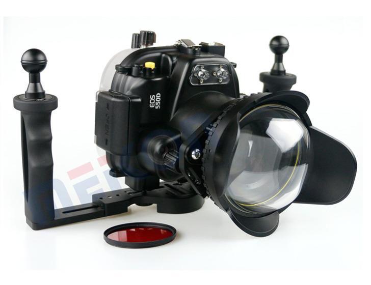 Canon 550D T2I waterproof case aluminum tray set double handles