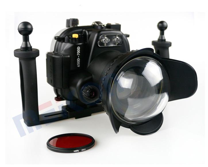 Canon 700D T5i waterproof case aluminum tray set double handles