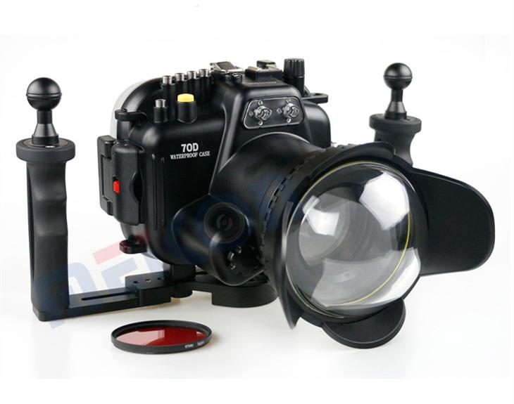 Canon 70D waterproof case aluminum tray set double handles