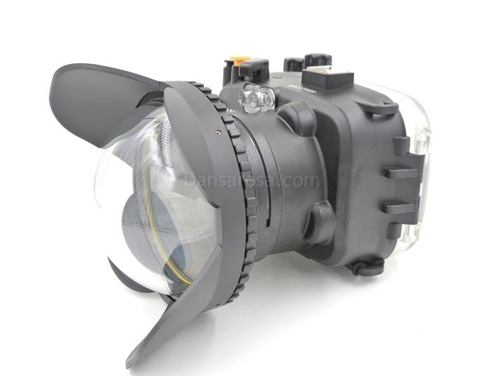 Sony A6000 waterproof case Fisheye dome port