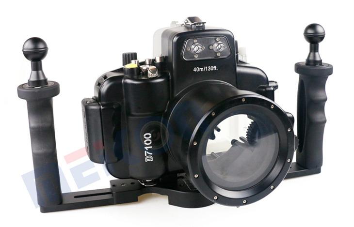Nikon D7100 waterproof case aluminum tray set double handles
