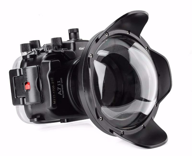 Sony A7II A7rII A7sII waterproof case wide angle lens dry lens dome