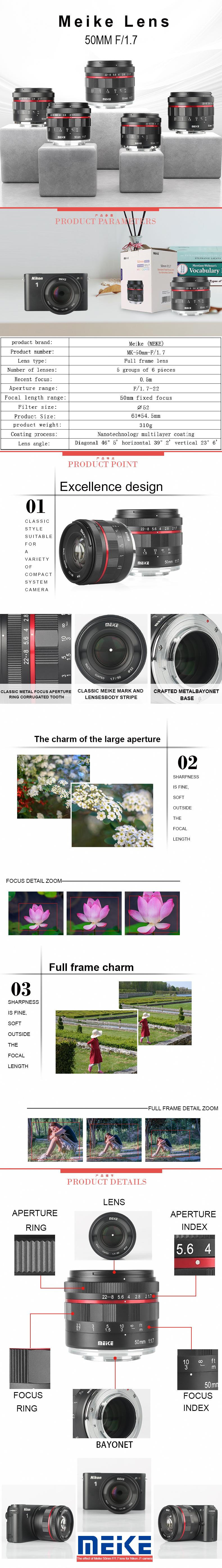 MEIKE MK-50MM F/1.7 Prime Lens for Fujifilm X mount