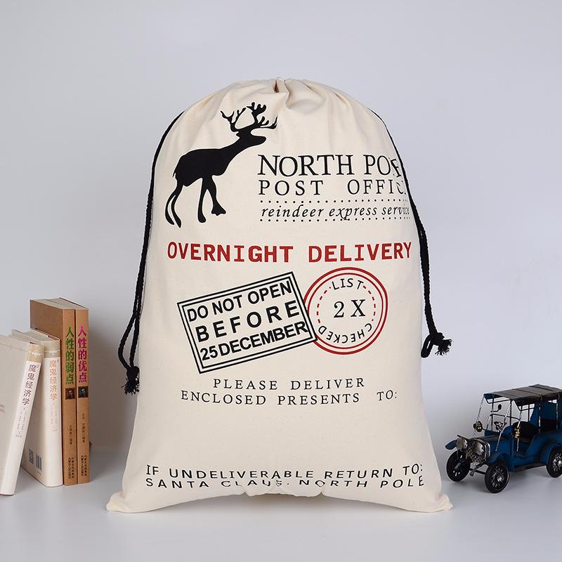 Christmas Gift Large Canvas Santa sacks Bags