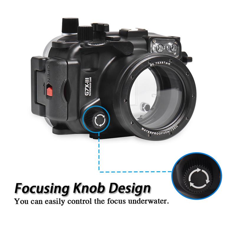Canon G7X Mark iii Underwater Housing Waterproof Case detail