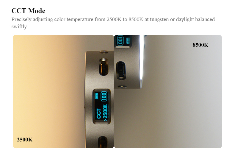 Godox R1 round RGB mini creative LED on-camera video light