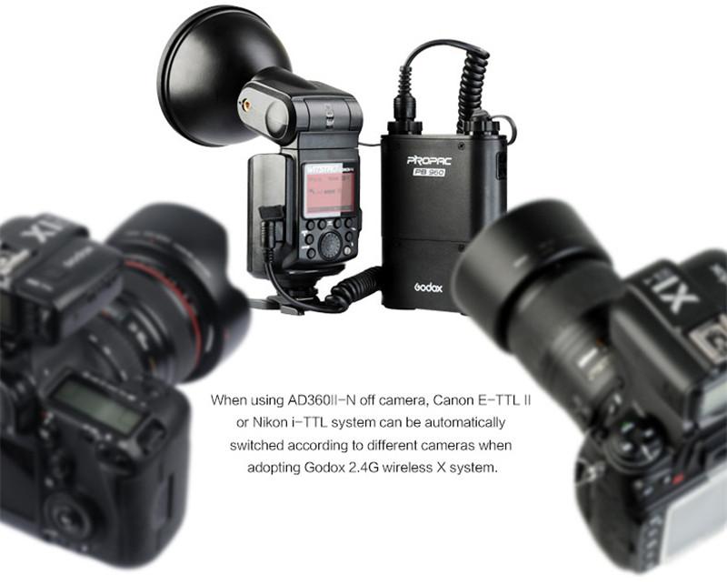Godox AD360II-N TTL on/off-camera flash speedlite 2.4G wireless X system for nikon