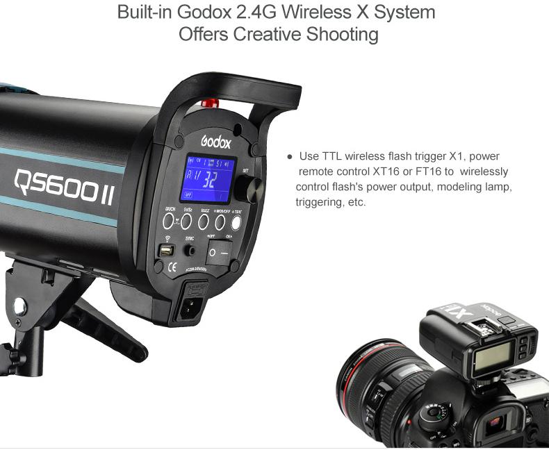 Godox QS600 II 600Ws GN76 studio strobe flash light