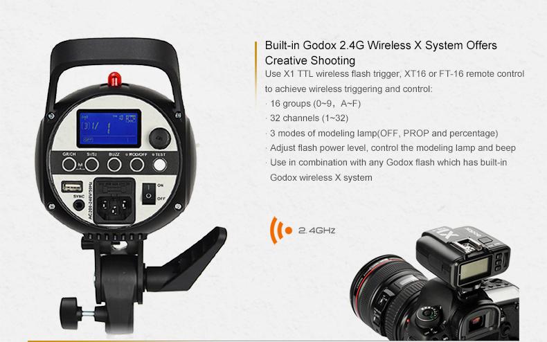 Godox SK400II 400Ws GN58 2.4G wireless X system studio strobe flash light