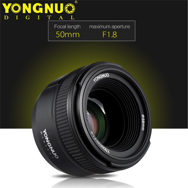 YONGNUO 50mm F1.8N large aperture auto manual focus lens for nikon DSLR cameras