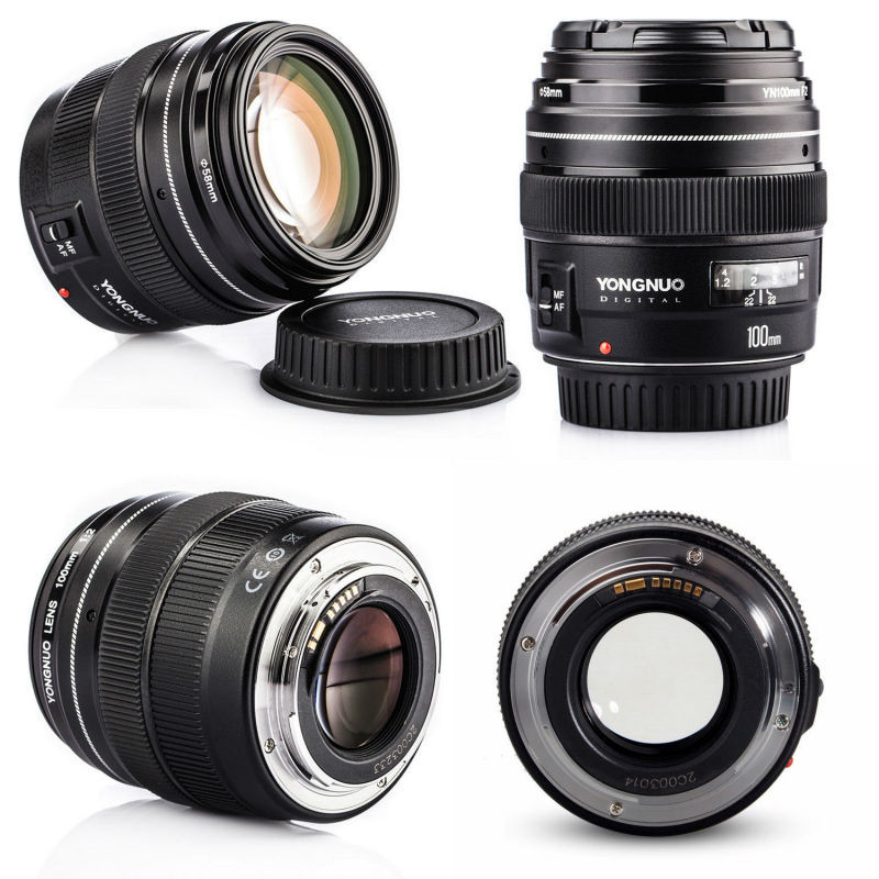 Yongnuo 100mm F2 auto focus lens AF large aperture for Nikon