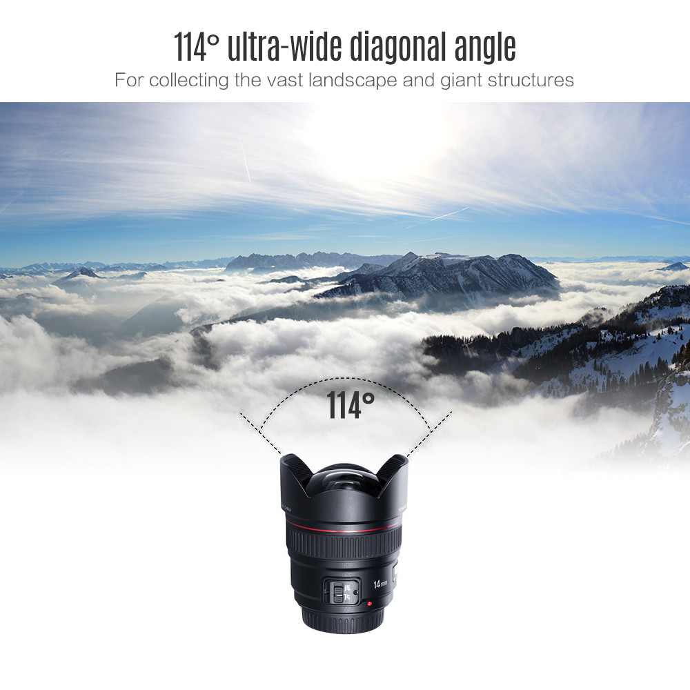 YONGNUO 14mm F2.8 ultra-wide angle prime lens auto focus lens for Nikon