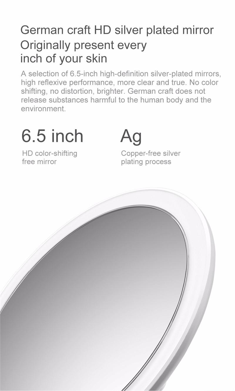 AMIRO HD daylight rechargeable adjustable makeup mirror