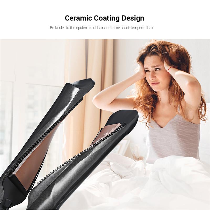 Gustala 2-In-1 hair curing irons hair culer straightener