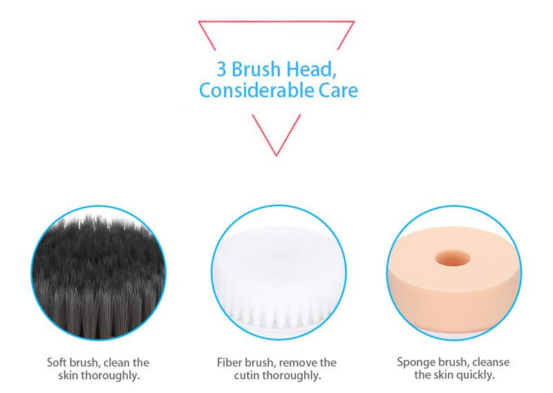 BLK - E001 3 in 1 electronic facial brush