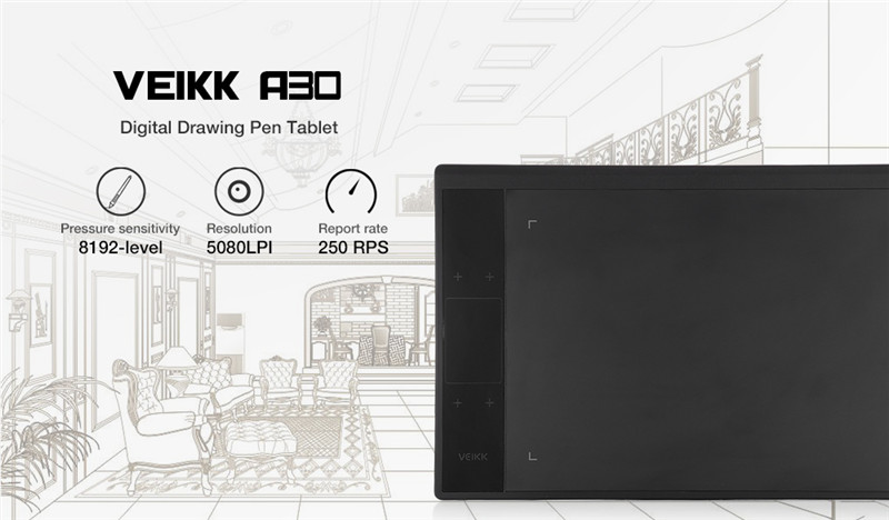 VEIKK A30 Digital Drawing Tablet