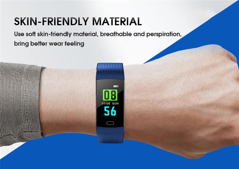 Imosi Y5 smart bracelet color screen heart rate fitness tracker watch
