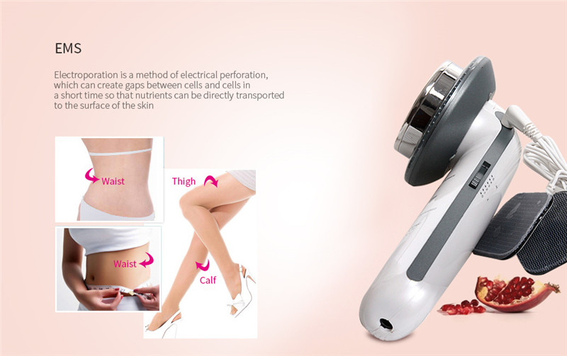 3 in 1 LED EMS Ultrasonic Micro-electric Skin Body Shaping Massager