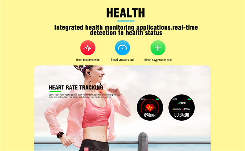 Kospet magic blood pressure test / heart rate detection smart watch