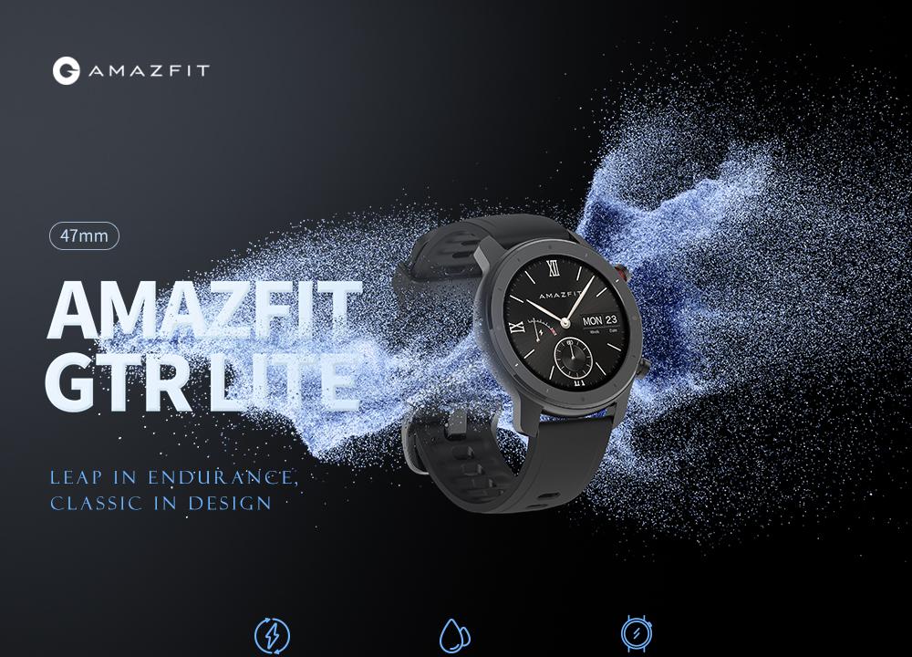 Amazfit GTR lite 47mm aluminum smart watch