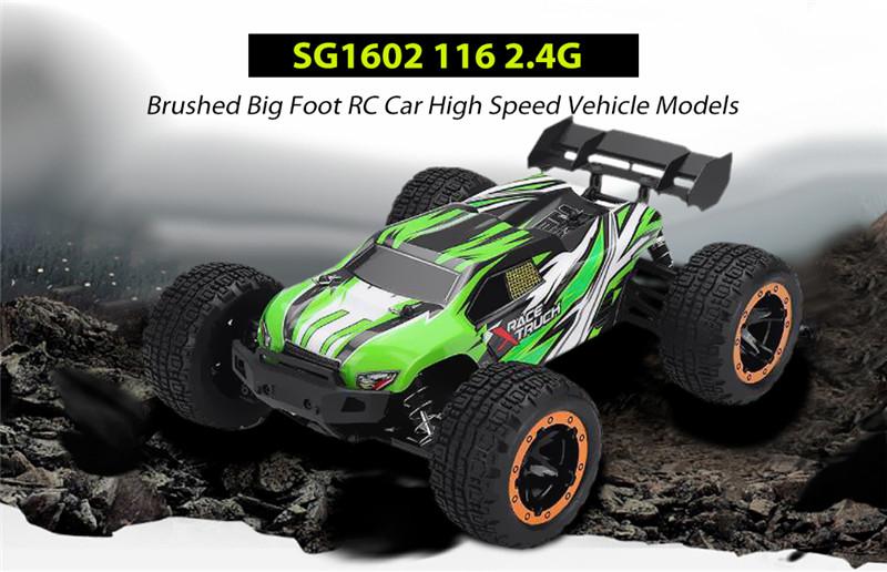 SG1602 2.4G Brushed RC Car High Speed Vehicle Models