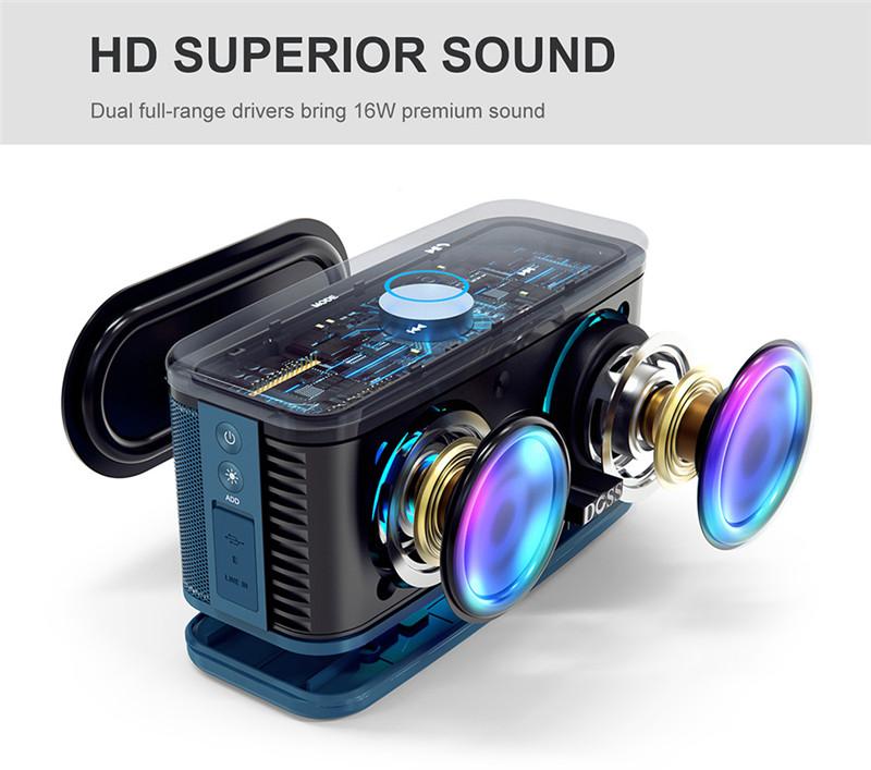 DOSS SoundBox Plus TWS Bluetooth Speaker