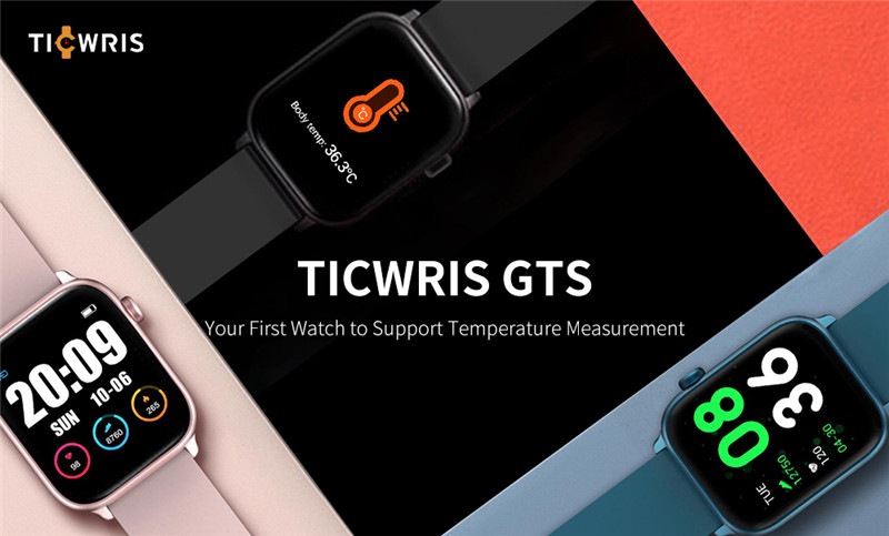 TICWRIS GTS real-time sports smart watch