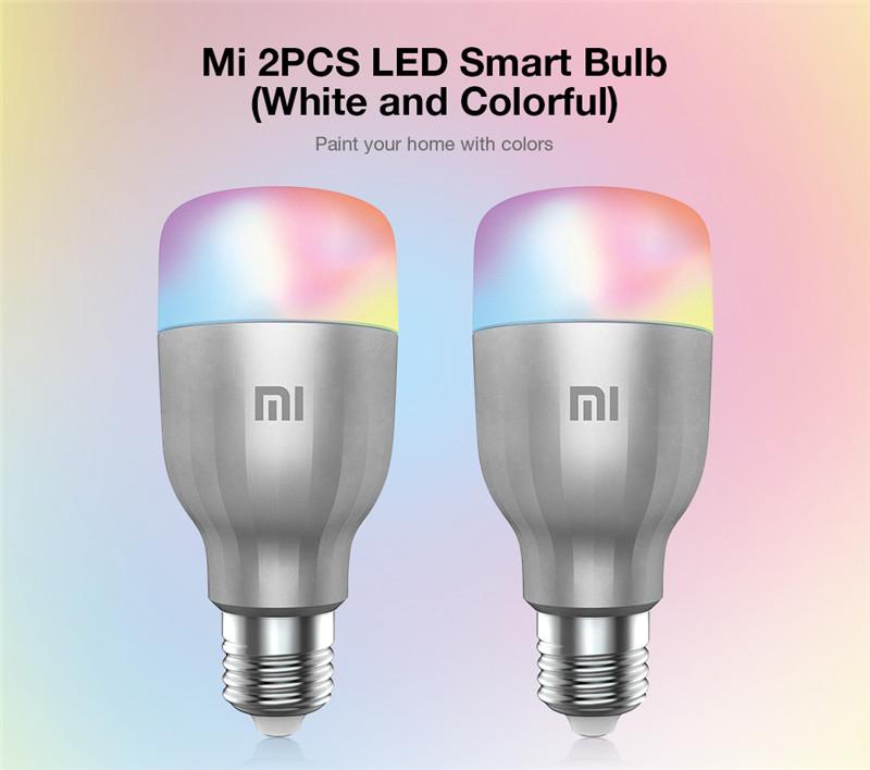 Xiaomi 2PCS LED smart bulbs white colorful light