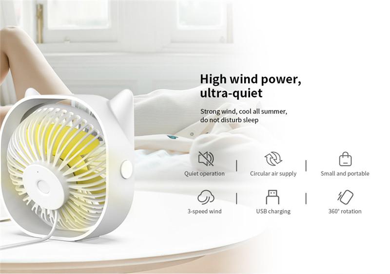 M105I elves USB charging desktop fan