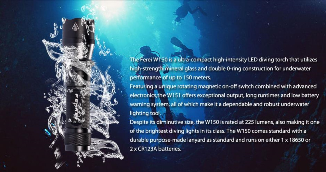 w150 Waterproof torch