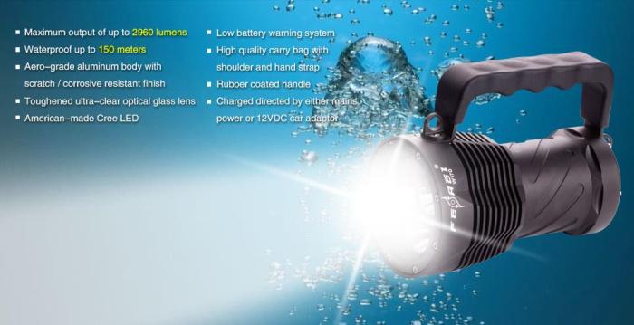 w170 Waterproof flashlight