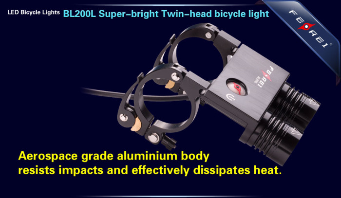 BL200 2X800 LM led bicycle light