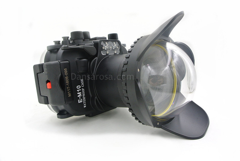 Fisheye dome for OMD EM-10 underwater housing