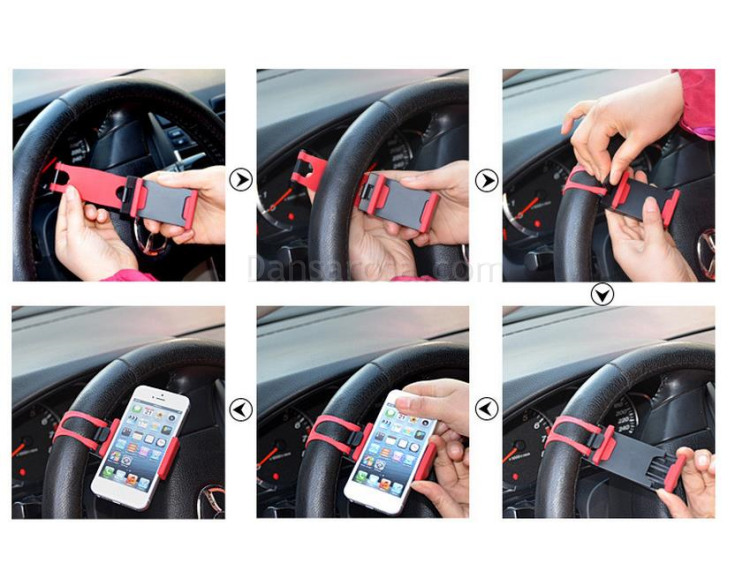 Instruction of Car Steering Wheel Mobile Phone Holder for iPhone
