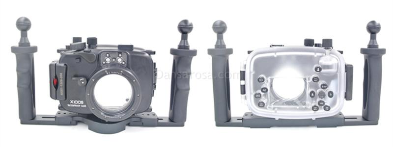 Fujifilm X100S waterproof case aluminum tray set double handles