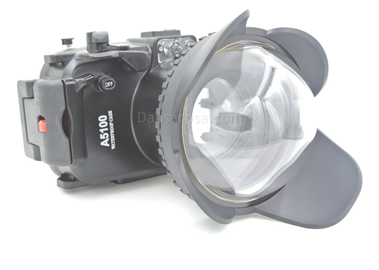 Sony A5000 waterproof case Fisheye dome port