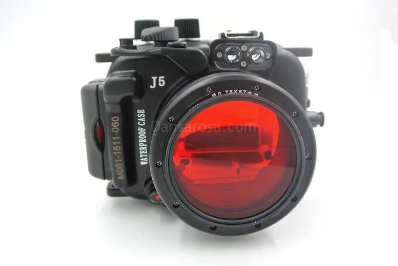 Red filter for nikon J1 underwater housing