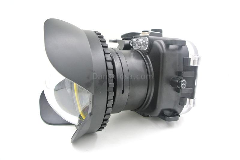 Fisheye lens for nikon j1 waterproof case