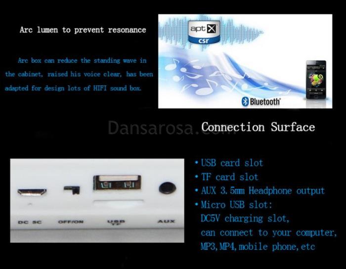 LED Flash Light Mini Bluetooth Speaker V3168