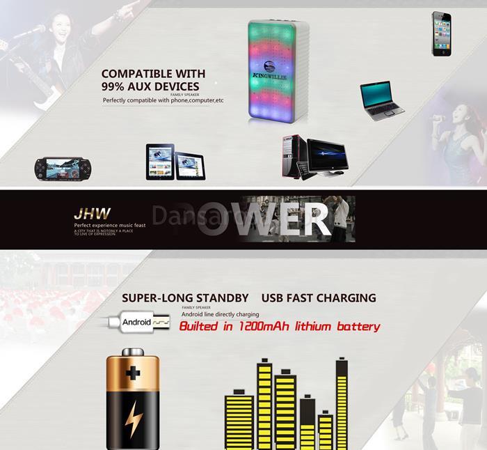 JHW-V338 LED Light Bluetooth Speaker Sound Box