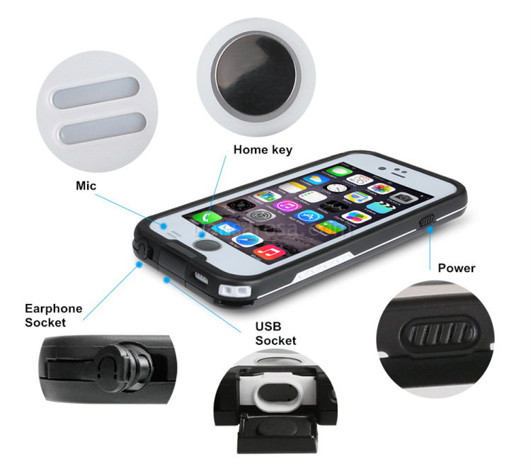 1m waterproofing housing for iphone 6 6s