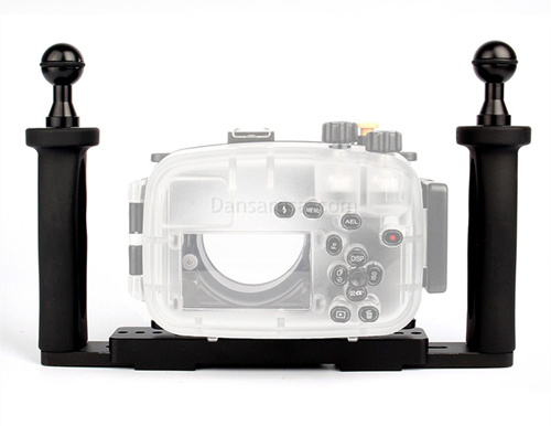 Canon G5X waterproof case aluminum tray set double handles
