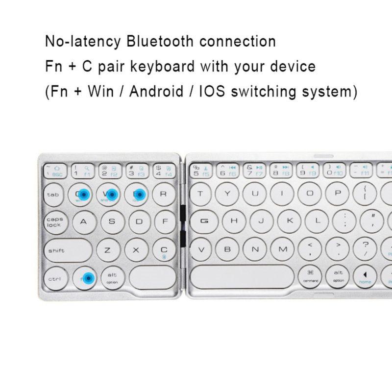 Mini foldable bluetooth Keyboard Tablet iPad Phone